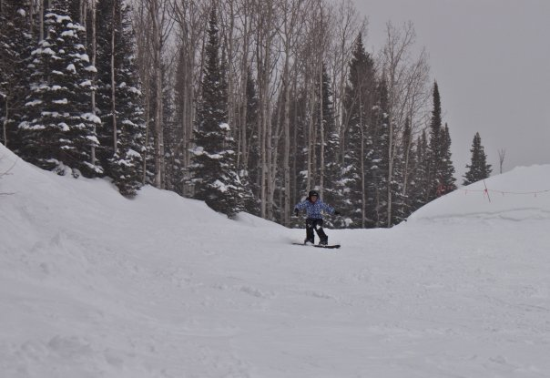 Skiing and snowboarding in Park City, Utah