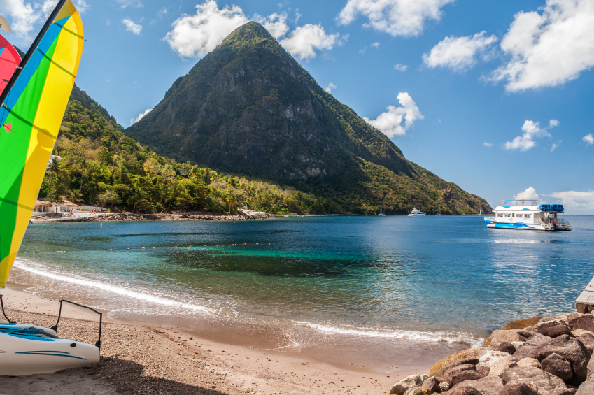 beach on St. Lucia