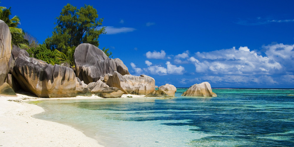 La Digue, Seychelles - Anse Source D'Argent on the Rocks