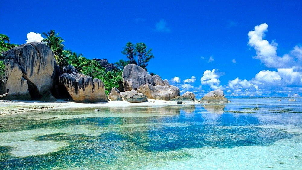 Seychelles beaches and islands